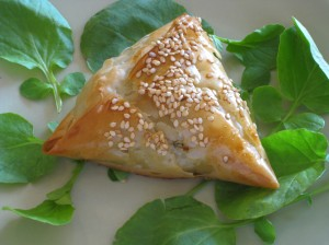 Ojaldre, the Ottoman-Sephardic savory pastry par excellence. © Janet Amateau.